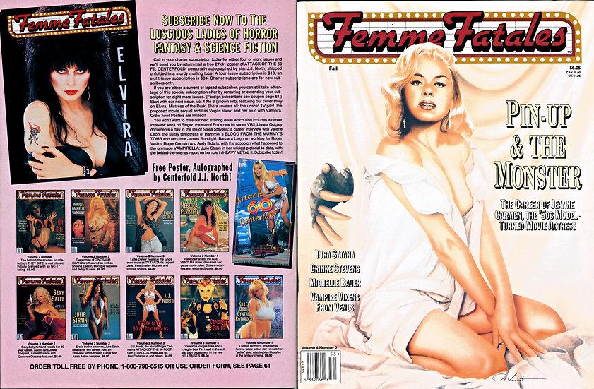Femme Fatales (Vintage film/TV magazine, Jeanne Carmen feature)