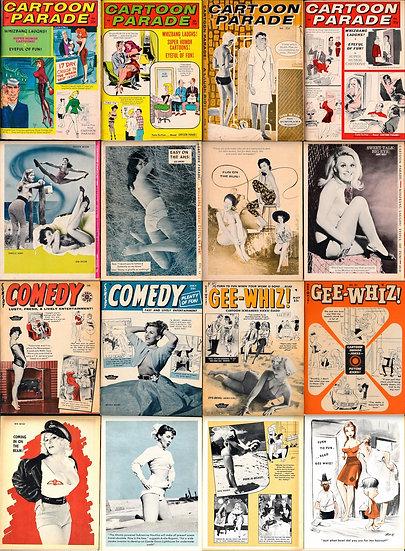 Humorama (20 vintage adult digest magazines, 1955-68)