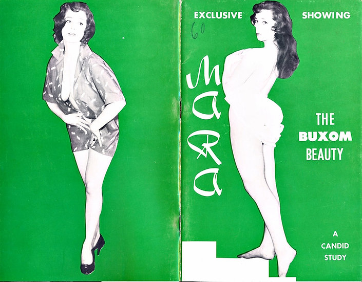 Exclusive Showing: Mara, the Buxom Beauty (vintage pinup digest magazine, 1950s)
