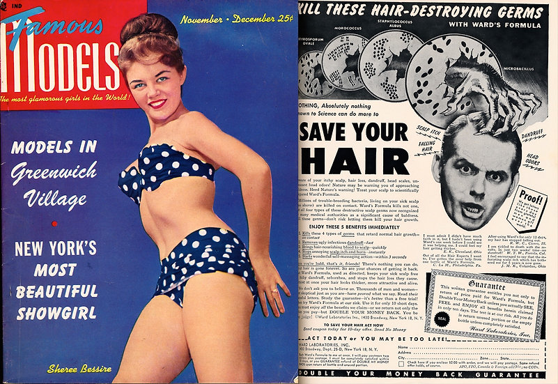 Famous Models [The Most Glamorous Girls...] (Vintage pinup magazine, 1950)