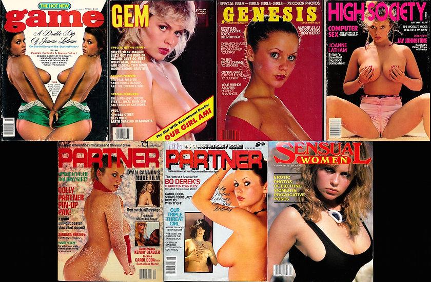 Joanne Latham on Game, Gem, Genesis, High Society, Partner, Sensual Women