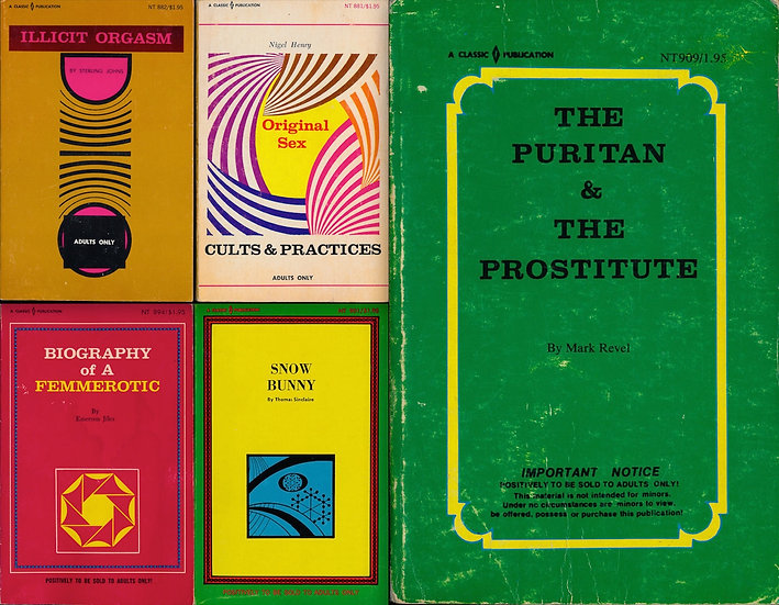 Classic Publications (5 vintage adult paperbacks, 1969)