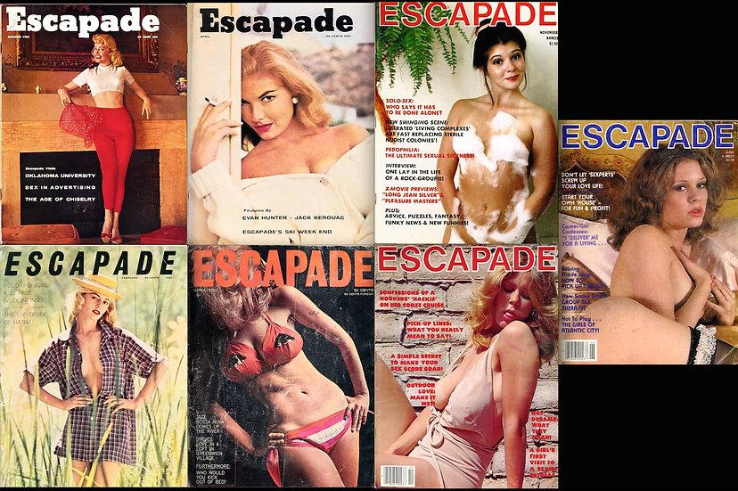 Escapade (7 vintage adult magazines, 1958-79)