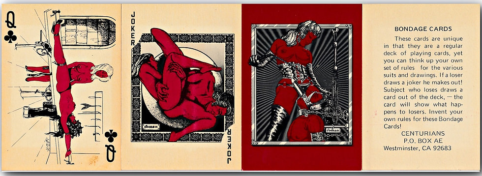 Centurians: Bondage Cards (Vintage playing cards)