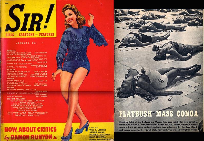 Sir! (Vintage magazine, Jan 1943)