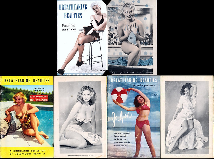 Breathtaking Beauties (3 vintage adult pinup digest magazines, 1950s)