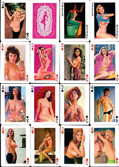 Honey Brand (Vintage nude playing cards, 1960s)