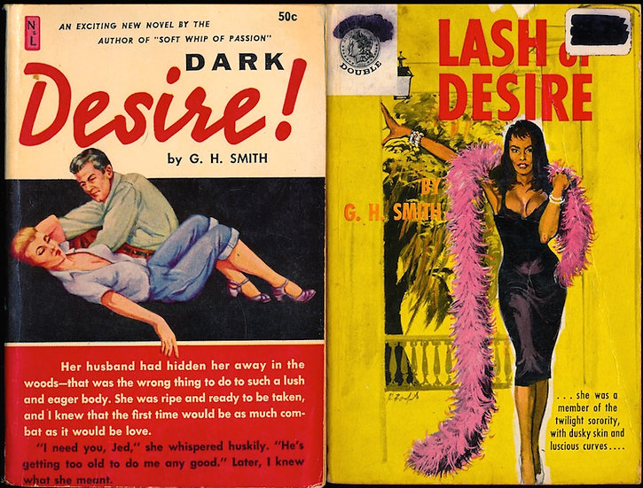 Dark Desire! / Lash of Desire (2 vintage adult paperbacks)