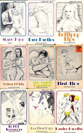 Debutante Books (9 vintage adult paperbacks)