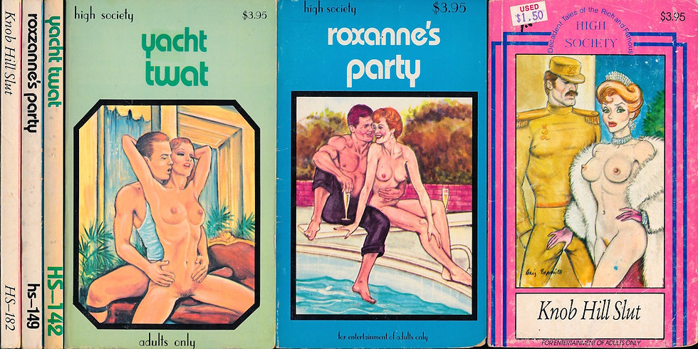 High Society (3 vintage adult paperbacks)