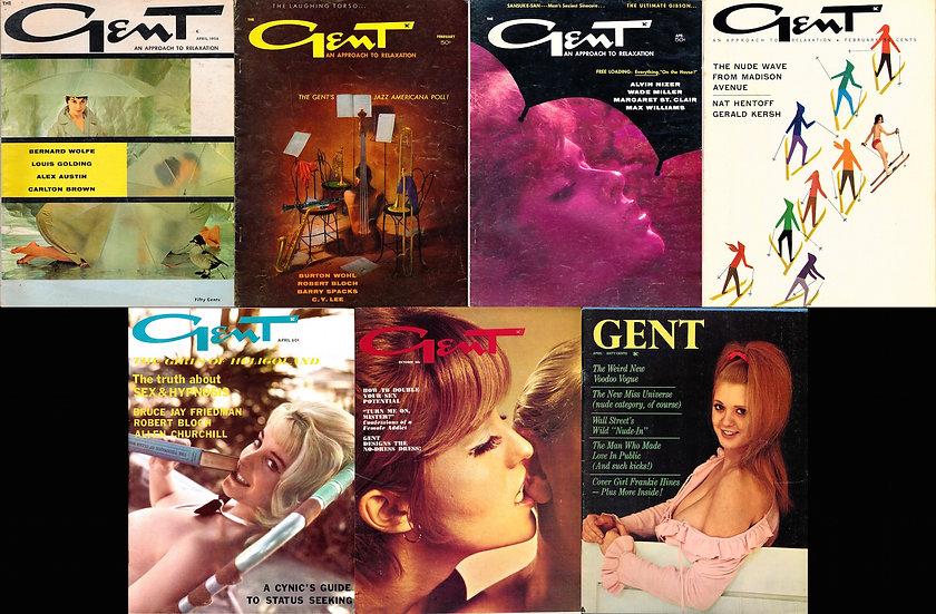 Gent (7 vintage adult magazines, 1958-69)