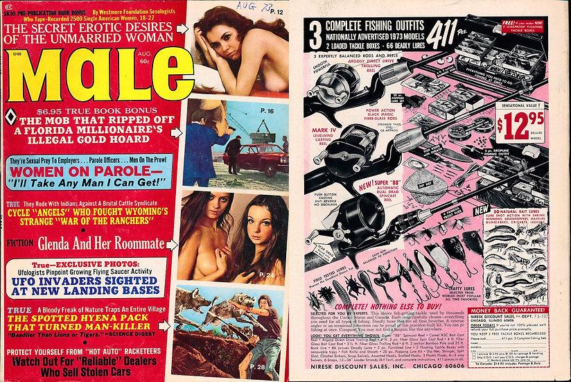 Male (Vintage adult magazine, Aug 1973)