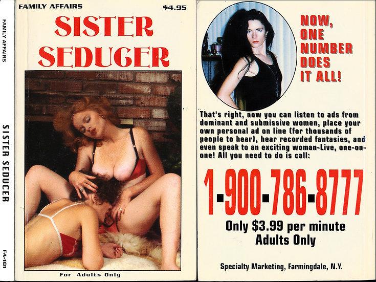 Sister Seducer (Vintage adult paperback, Lisa De Leeuw cover, 1994)