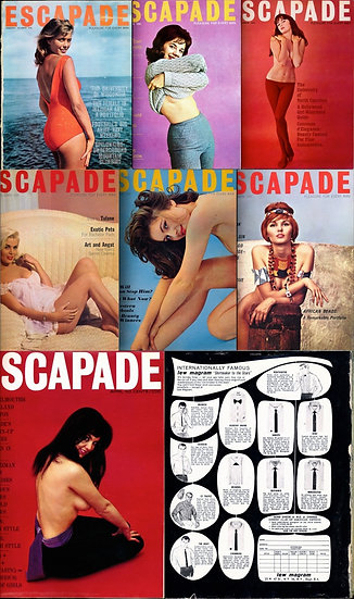 Escapade (7 vintage adult magazines bound together, 1962-64)