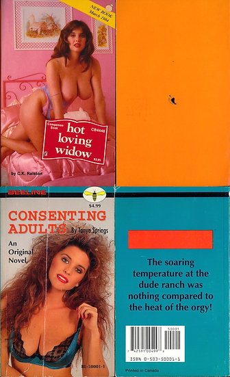 Hot Loving Widow / Consenting Adults (2 adult paperbacks, Julia Parton covers)