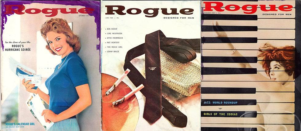 Rogue (3 vintage adult magazines, 1959-61)