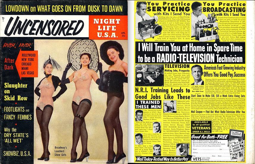 Uncensored (Vintage tabloid magazine, 1954)