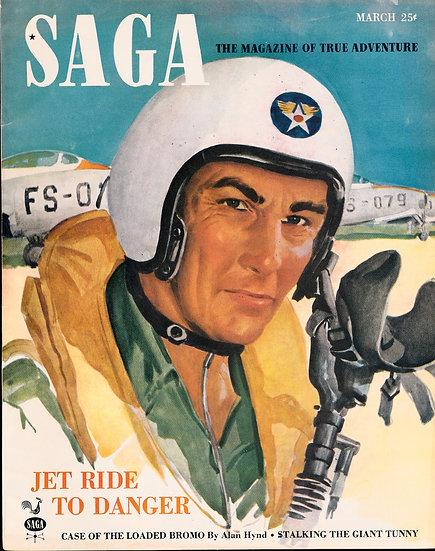 Saga [The Magazine of True Adventure] (Vintage adventure magazine, 1951)