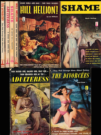 Beacon Books (4 vintage adult paperbacks, 1958-59)