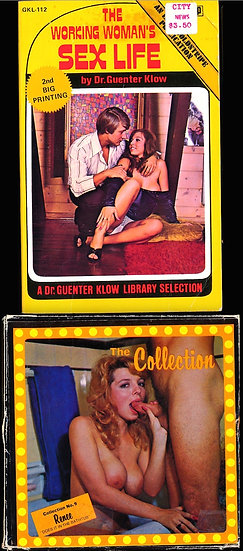 Rene Bond, cover model (3 Vintage adult paperbacks, 1 film reel)