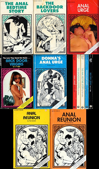 ASS series (7 vintage adult paperbacks, 1987-91)