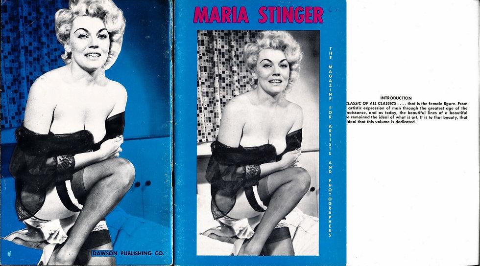 Maria Stinger (vintage pinup digest magazine, 1950s)