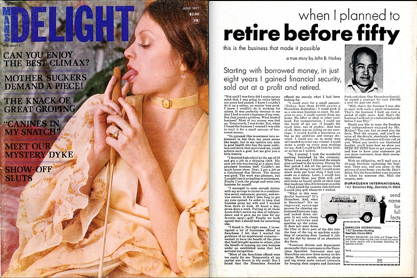 Man's Delight (Vintage adult magazine, 1977)