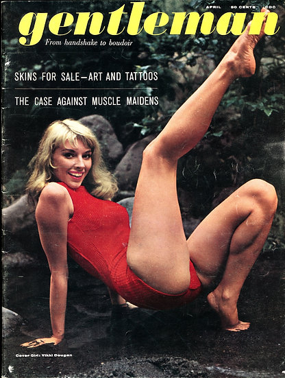 Gentleman (vintage adult magazine, Vikki Dougan cover, 1961)