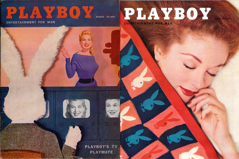 Playboy (2 vintage adult magazines, 1956)