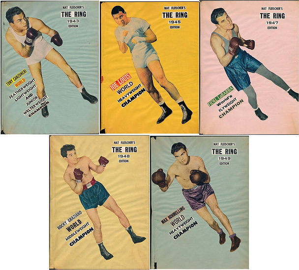 The Ring [World's Foremost Boxing Magazine] (5 volumes in custom dust jackets)