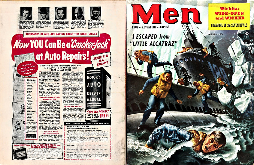 Men (vintage adventure magazine, Mar 1953)