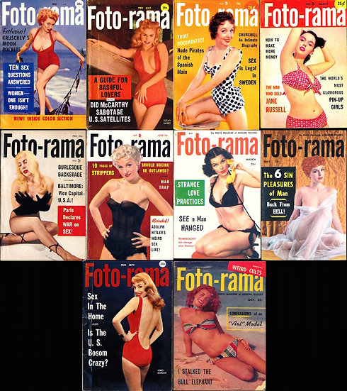 Foto-rama [The Photo Magazine of Headline Features] (10 digest pin-up magazines)