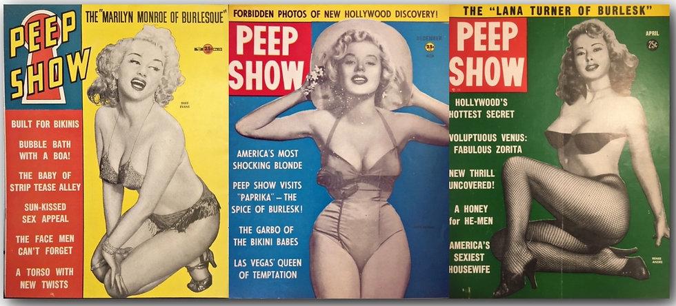 Peep Show (3 vintage pinup magazines, 1954-56)