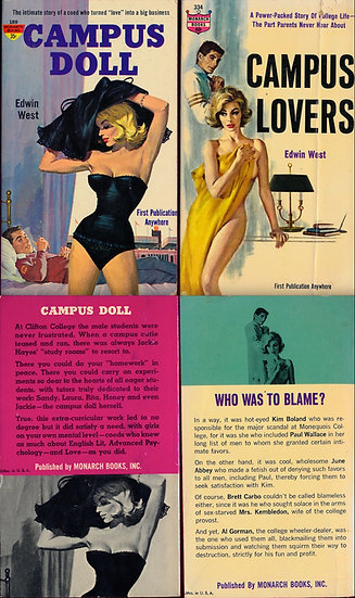 Monarch Books: Campus Doll / Campus Lovers (2 vintage paperbacks)