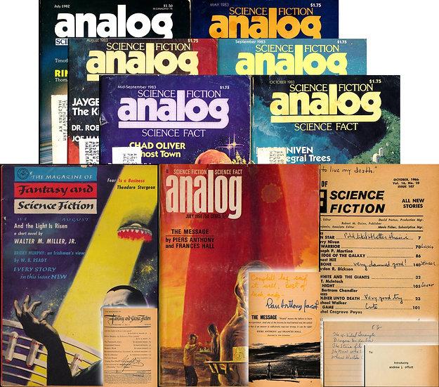 Analog, Galaxy, If, Worlds of Tomorrow (25 magazines, Offutt copies, 1951-83)