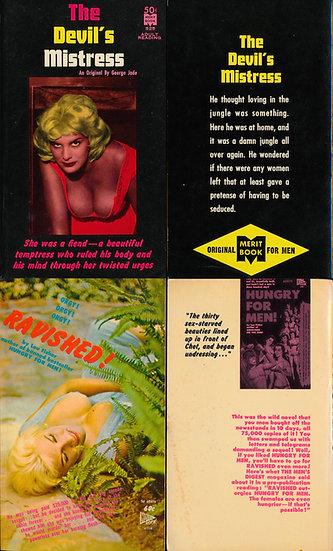 June Wilkinson, cover model (2 Vintage adult paperbacks, 1961-62)