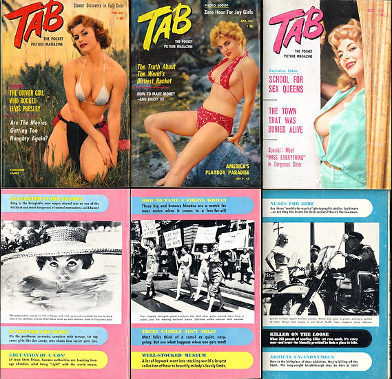 Tab [The Pocket Picture Magazine] (3 vintage pin-up digest magazines, 1960-61)