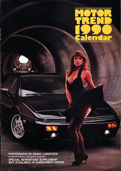 Motor Trend 1990 Calendar (Vintage promotional calendar)