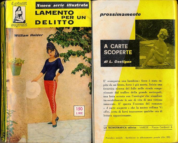 Lamento per un delitto [The Case of the Dead Divorcee] (Vintage Italian edition)