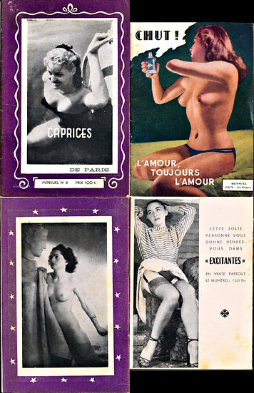 Caprices / Chut (2 French adult digest magazines, 1950s)