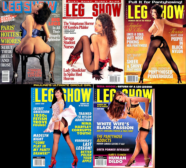 Leg Show (5 vintage adult magazines, 1987-2001)