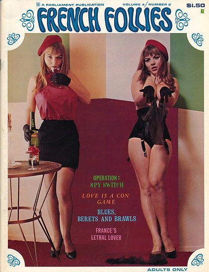 French Follies(Vintage adult magazine, Michelle Angelo cover model)