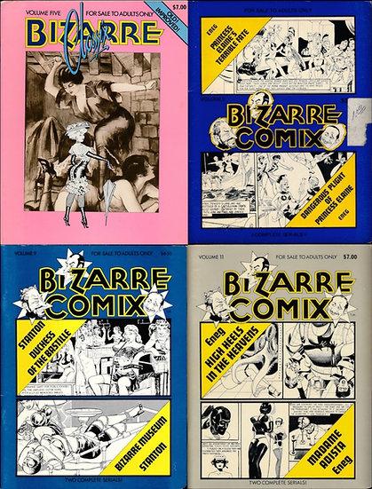 Bizarre Comix [and Classix] (5 vintage adult magazines, 1975-80)