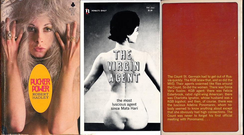 The Virgin Agent / Pucker Power (2 vintage adult paperbacks)
