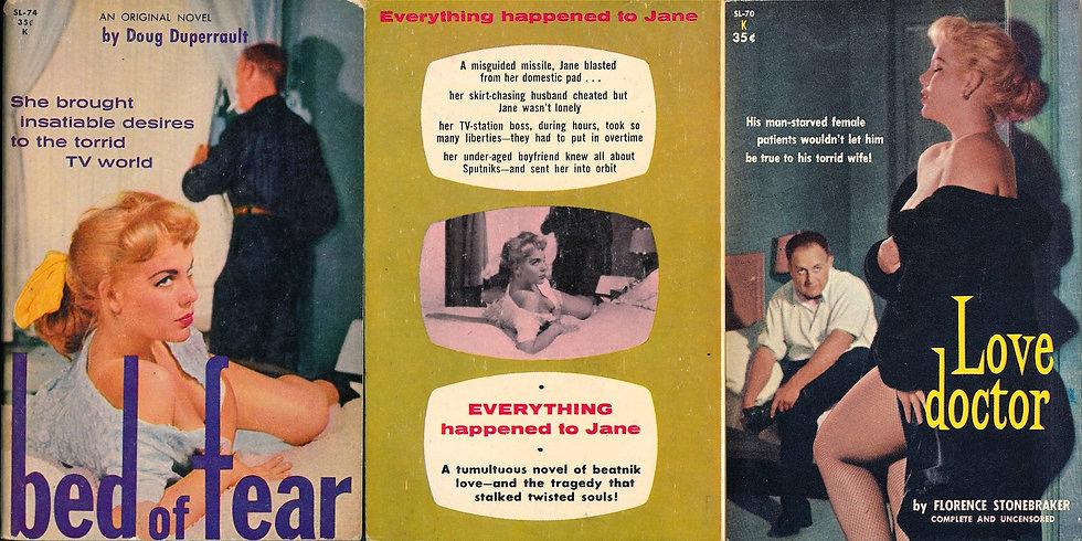 Bed of Fear / Love Doctor (2 Vintage sleaze paperbacks)