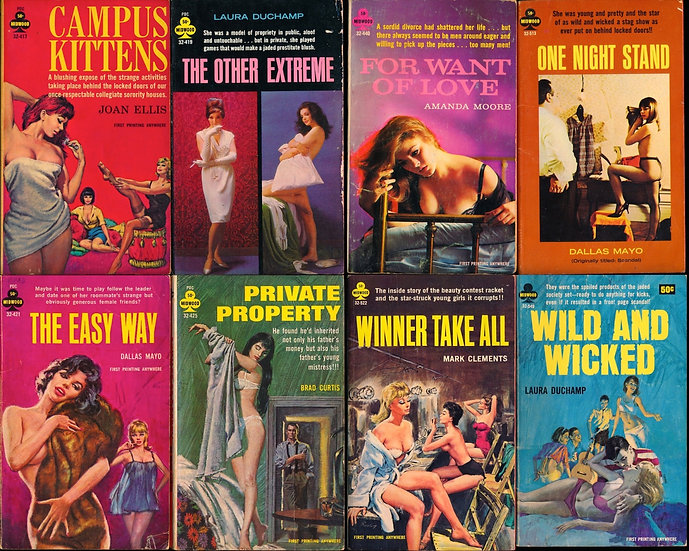 Midwood Books (15 vintage adult paperbacks, 1964-68)
