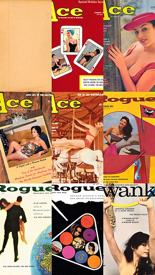 Ace / Rogue / Swank (8 vintage adult magazines bound together, 1959-61)