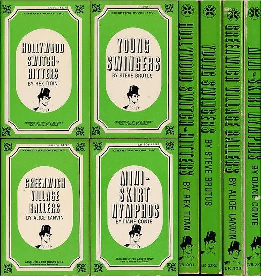 Libertine Books (4 vintage adult paperbacks)