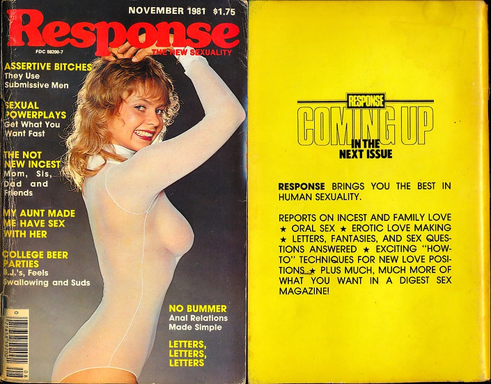 Response: The New Sexuality (Vintage adult magazine, Joanne Latham cover, 1981)