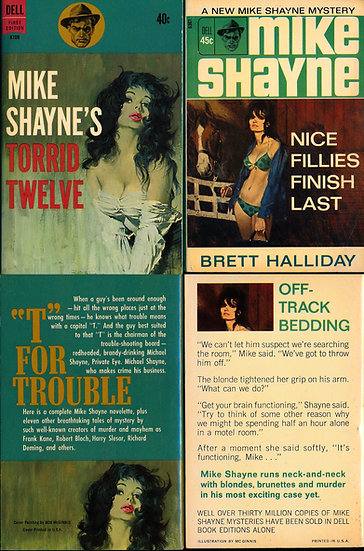 Mike Shayne's Torrid Twelve / Nice Fillies Finish Last (2 vintage paperbacks)